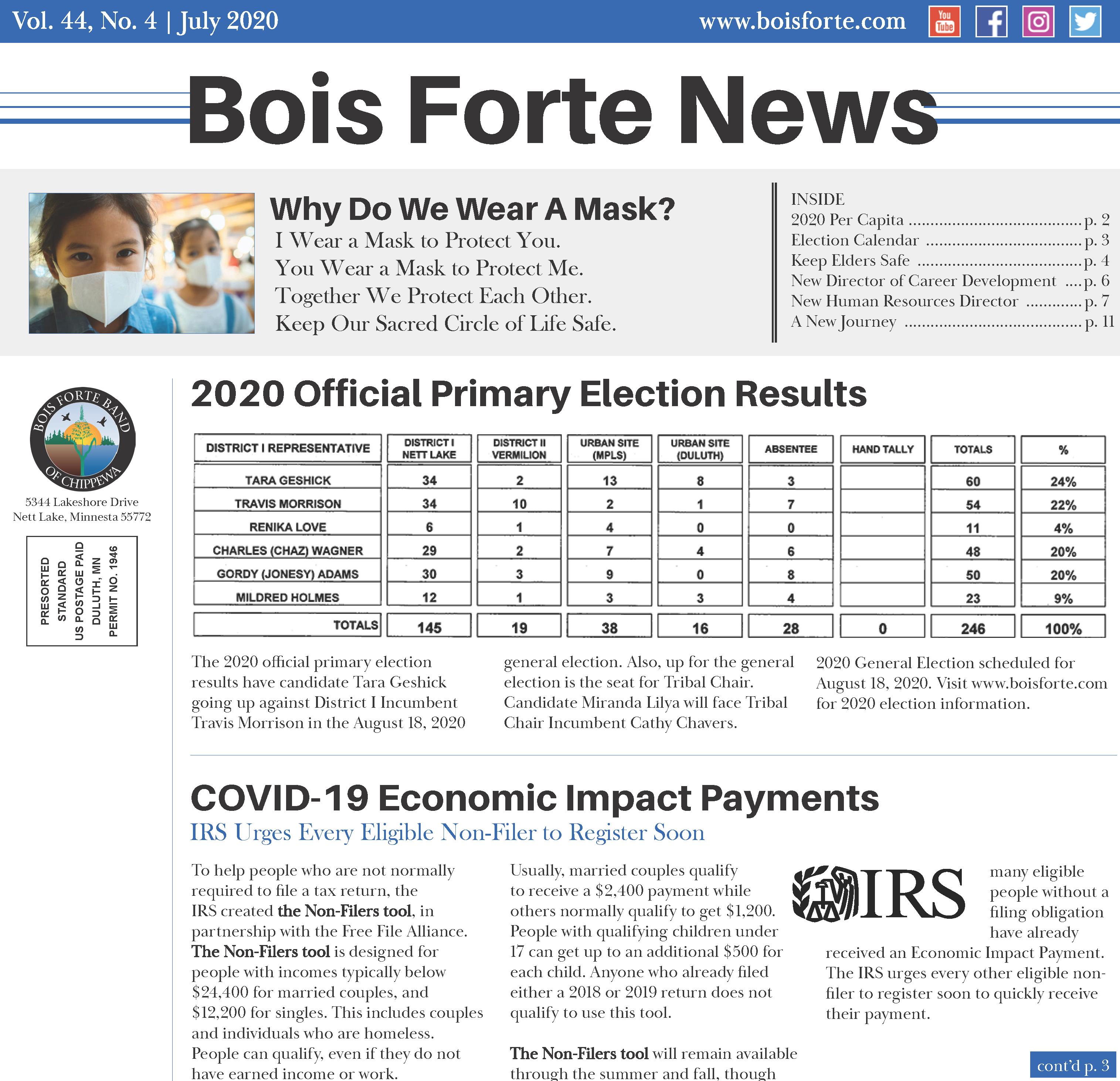 July 2020 Bois Forte News