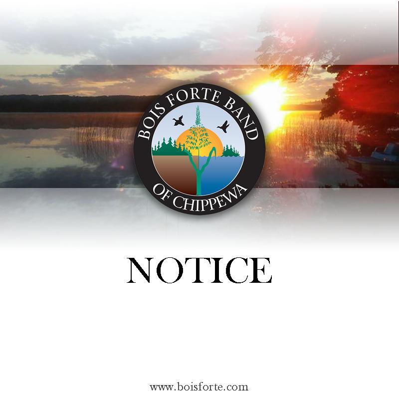 Bois Forte Notice