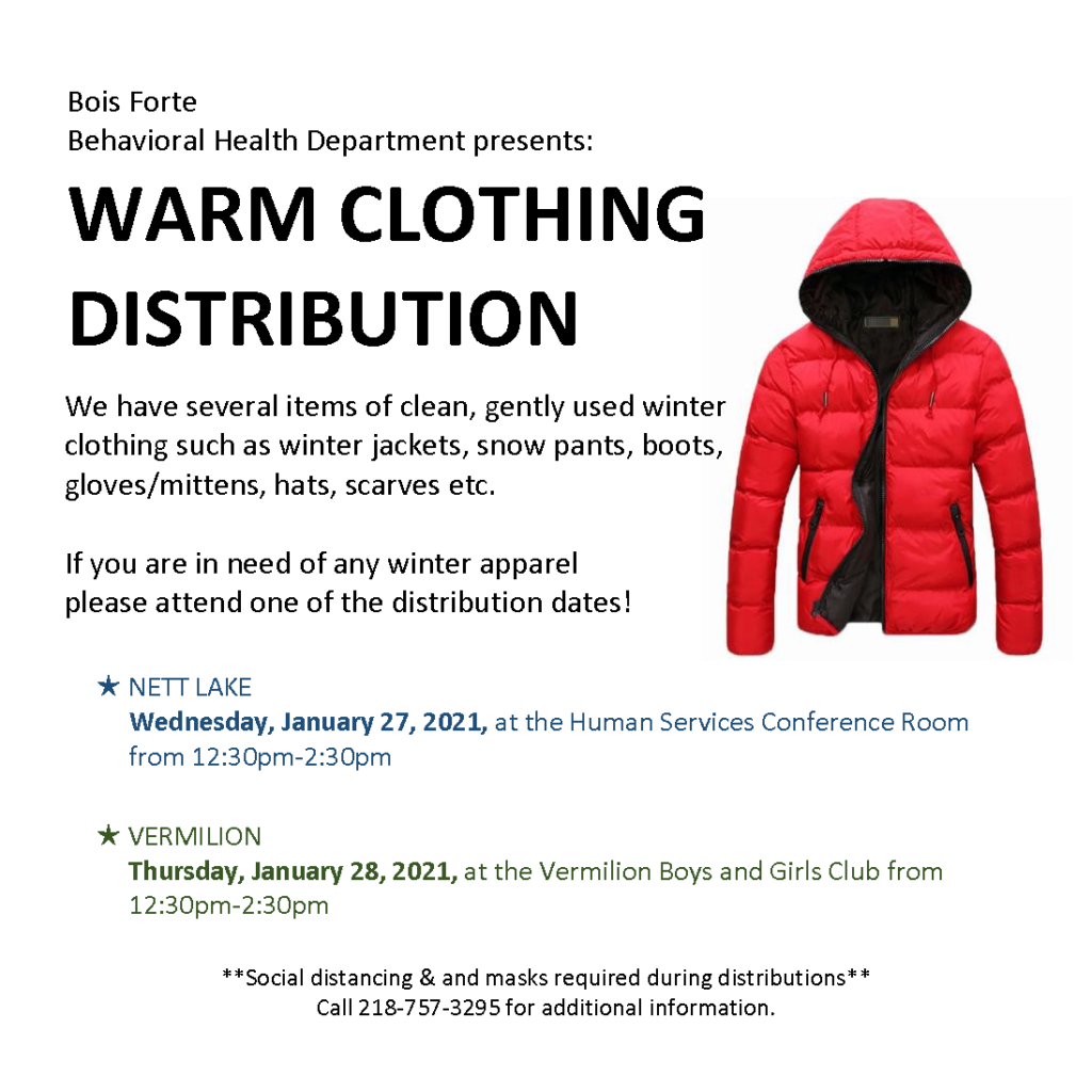 Bois Forte Warm Clothing Distribution